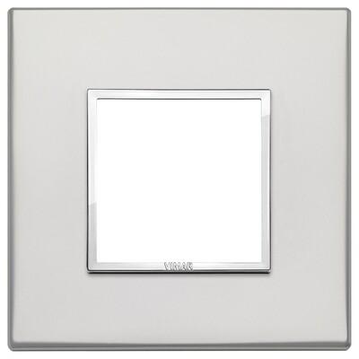 Накладка Evo на 2 модуля, серебро