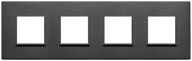 Накладка Evo на 8 модулей (2+2+2+2) расстояние между центрами 71мм, черная полностью