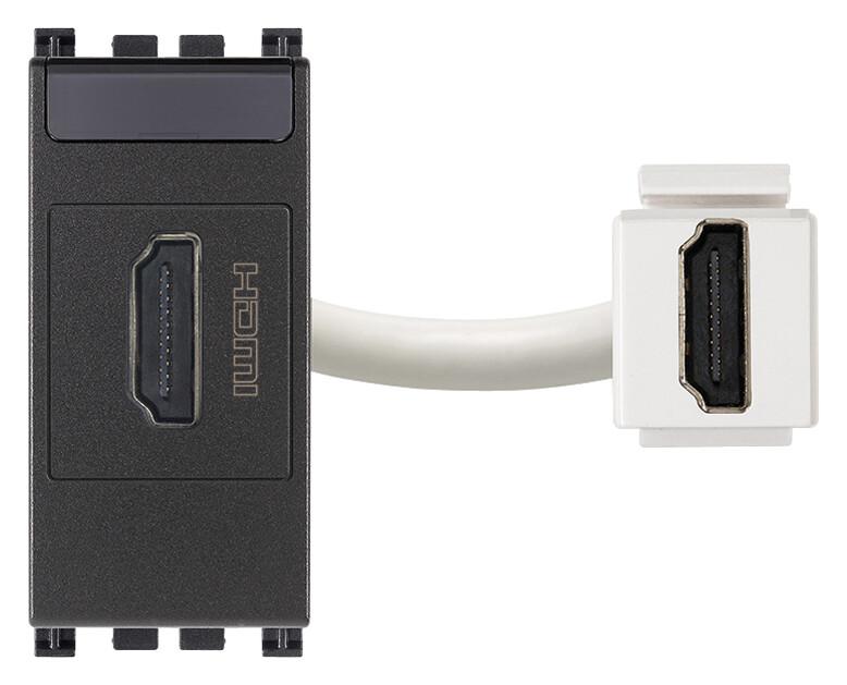 Розетка HDMI, серая