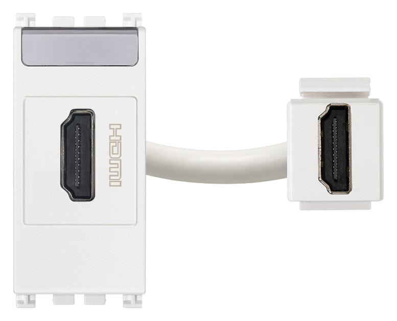 Розетка HDMI, белая