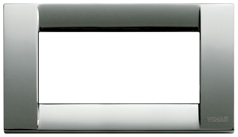 Накладка для 4 модулей металл хром