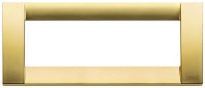 Накладка для 6 модулей металл матовое золото