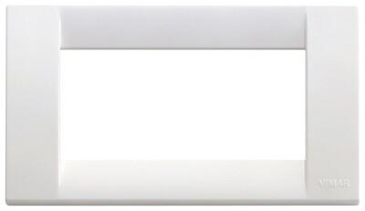 Накладка для 4 модулей пластик ярко-белый