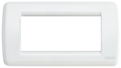 Накладка для 4 модулей RONDO металл белая