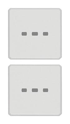 Две плоские клавиши без символов,белые