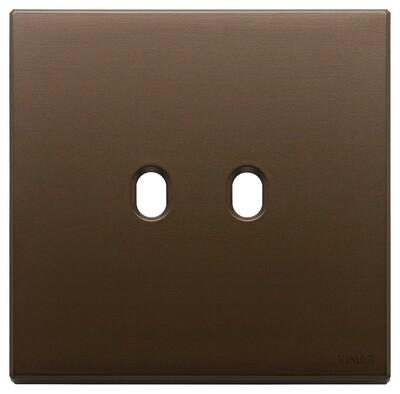 Накладка, 2 мод на 2 выкл., брошированная темная бронза
