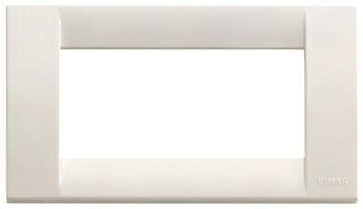 Накладка для 4 модулей пластик белый IDEA