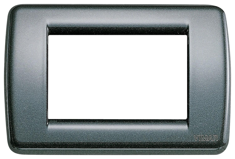 Накладка для 3 модулей RONDO металл металлик антрацитовый