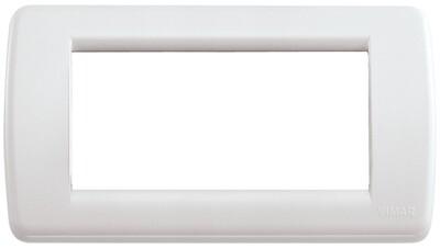 Накладка для 4 модулей RONDO пластик белый IDEA