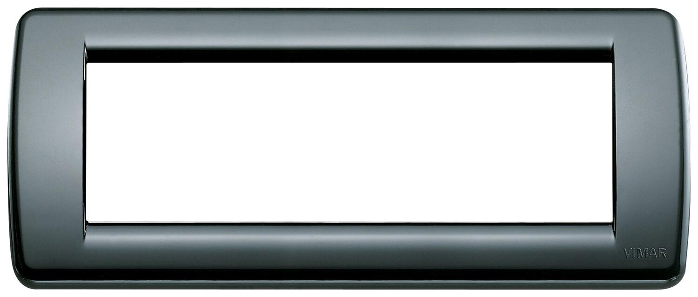 Накладка для 6 модулей RONDO пластик черный