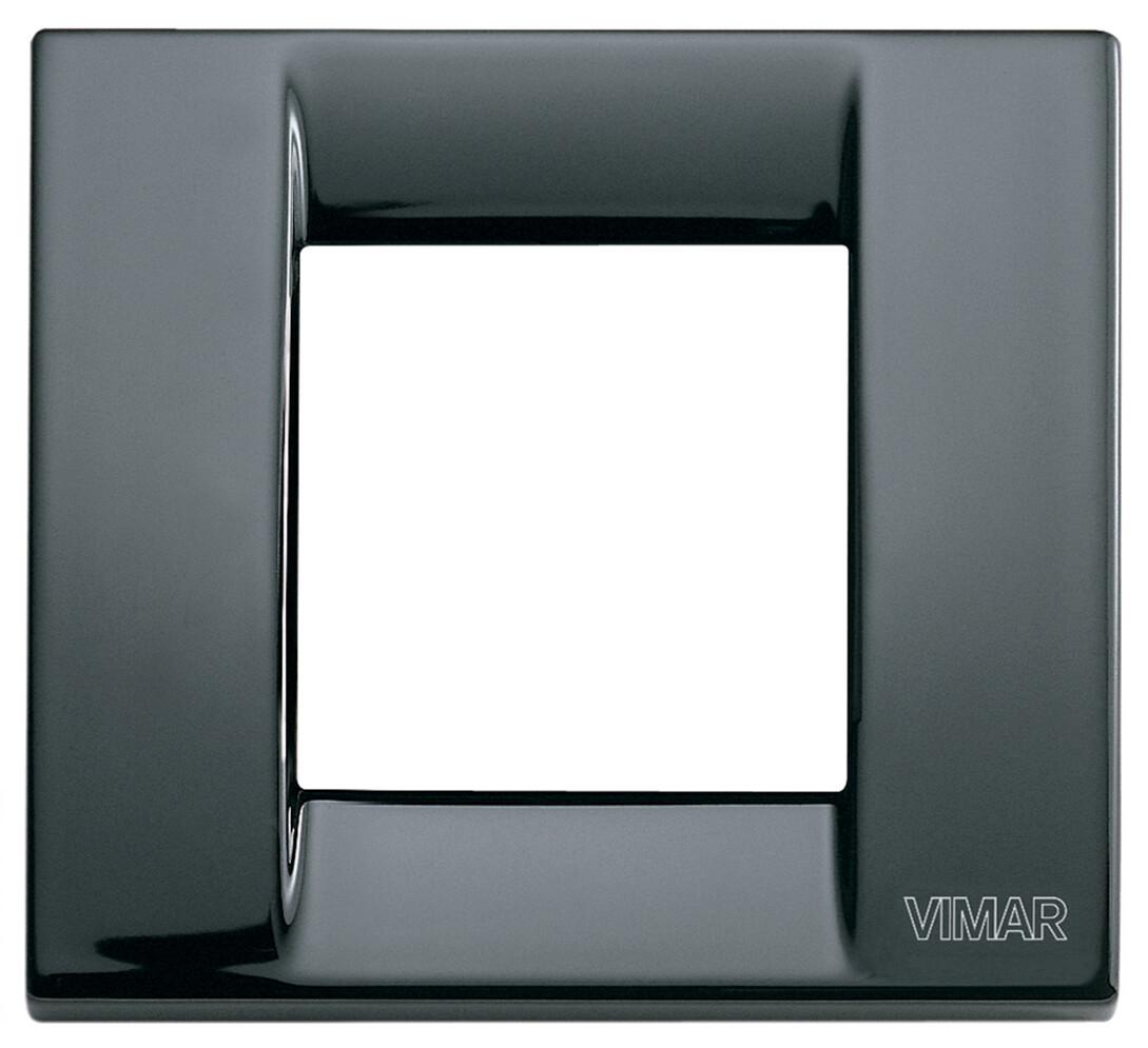 Накладка для 1-2 модулей металл черная