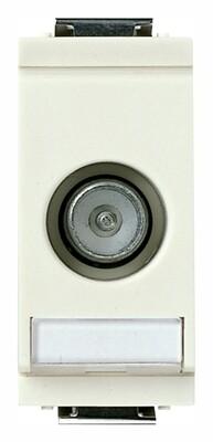 Розетка TV+RD-SAT 5-2400MHz 1db белая