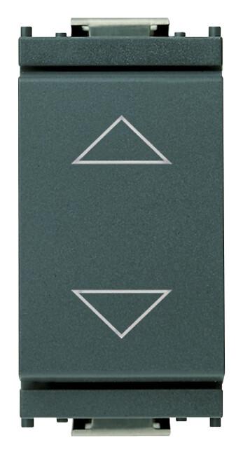Переключатель 1P 10AX с центральным положением выключения, серый