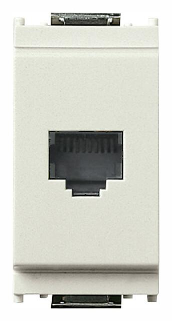 Розетка для штеккера RJ11, белая