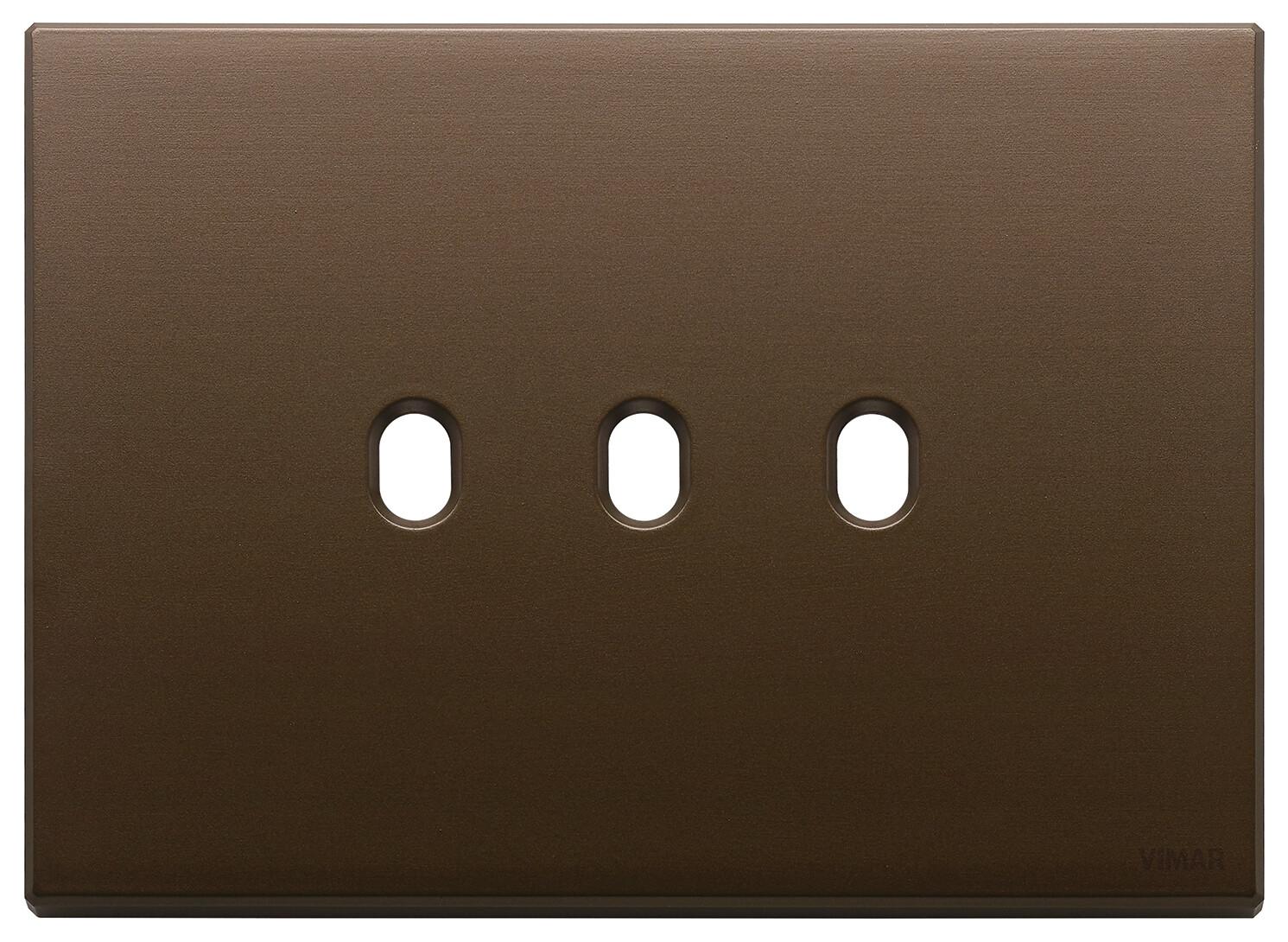 Накладка, 3 мод на 3 выкл., брошированная темная бронза