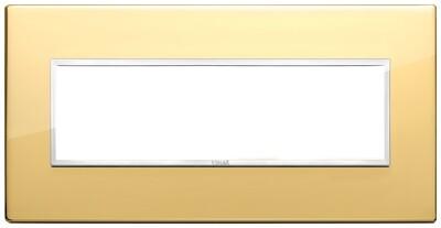 Накладка Evo на 7 модулей, глянцевое золото