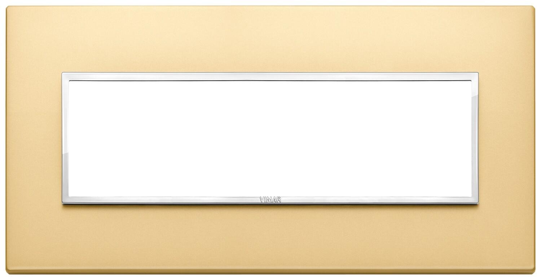 Накладка Evo на 7 модулей, сатинированное золото