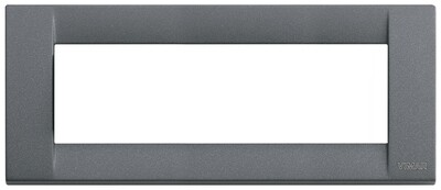 Накладка для 6 модулей металл серый шифер