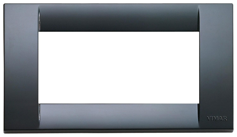 Накладка для 4 модулей пластик графитово-серый