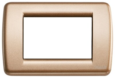 Накладка для 3 модулей RONDO металл металлик бронзовый