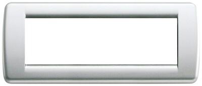 Накладка для 6 модулей RONDO металл металлик серебрянный
