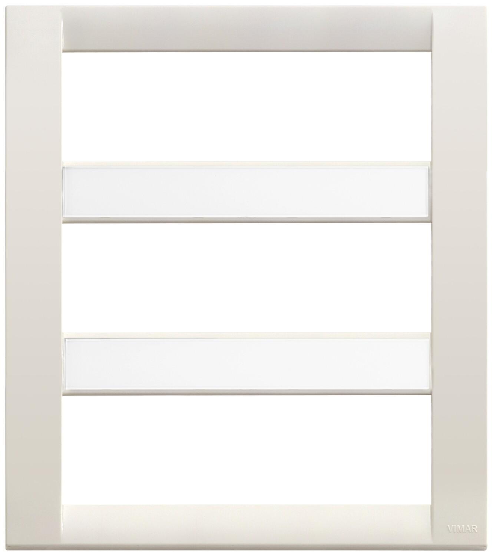 Накладка для 18 (6+6+6) модулей пластик белая IDEA