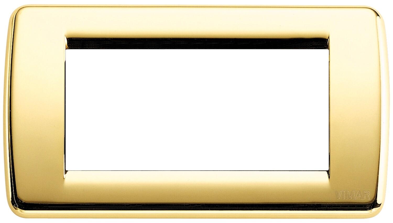 Накладка для 4 модулей RONDO металл блестящее золото
