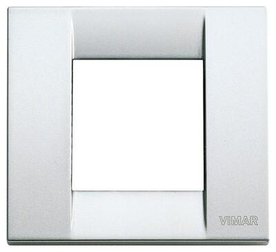 Накладка для 1-2 модулей металл металлик серебрянный