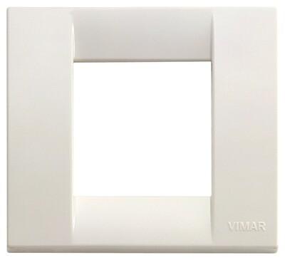 Накладка для 1-2 модулей пластик белый IDEA