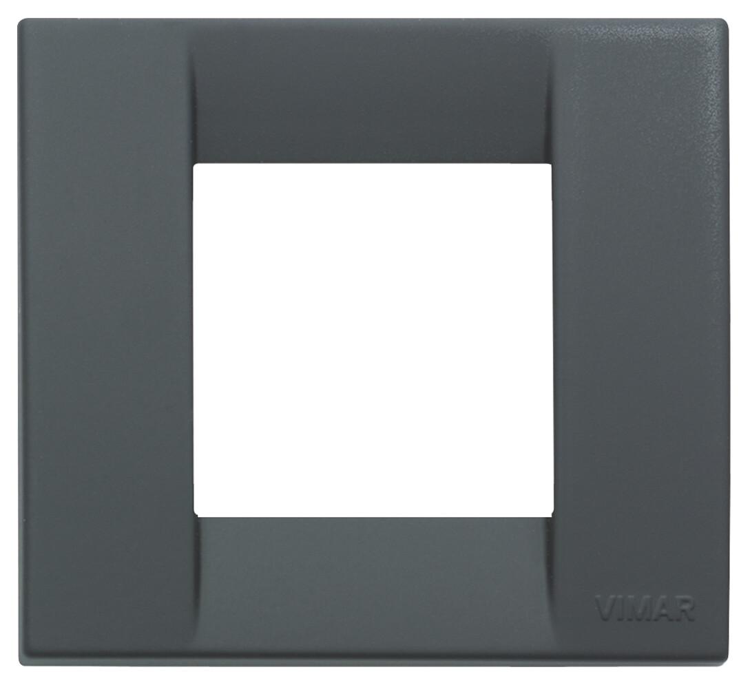 Накладка для 1-2 модулей пластик черный