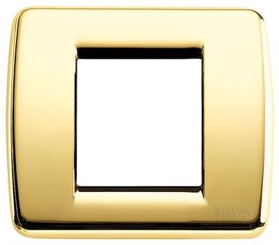Накладка для 1-2 модулей RONDO металл блестящее золото
