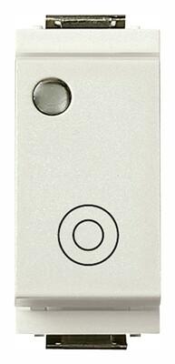 Кнопка 1P NO 10A с подсветкой без лампы, белая