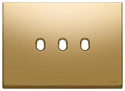 Накладка, 3 мод на 3 выкл., золото