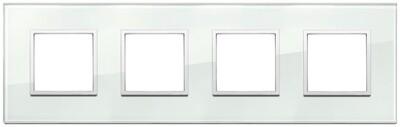 Накладка Evo на 8 модулей (2+2+2+2) расстояние между центрами 71мм, аква