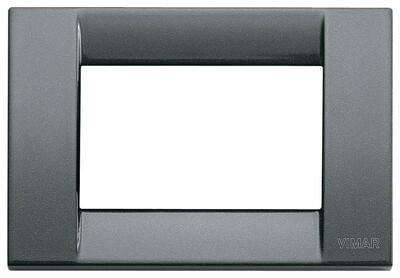 Накладка для 3 модулей металл металлик антрацитовый