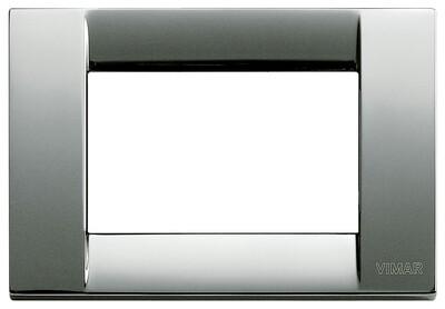 Накладка для 3 модулей металл хром
