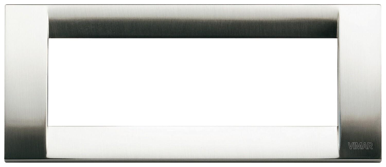 Накладка для 6 модулей металл никель