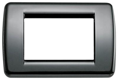 Накладка для 3 модулей RONDO металл черная