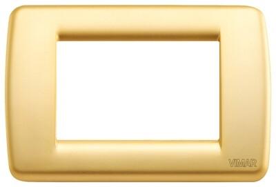 Накладка для 3 модулей RONDO металл матовое золото