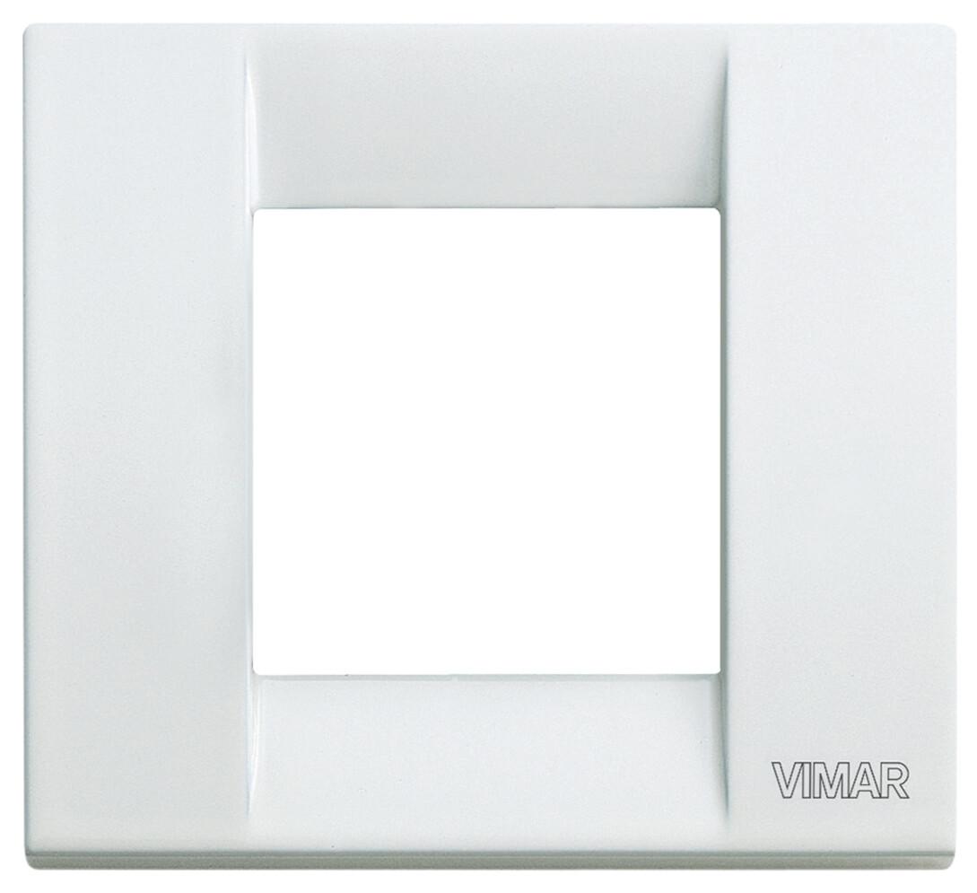 Накладка для 1-2 модулей металл белая