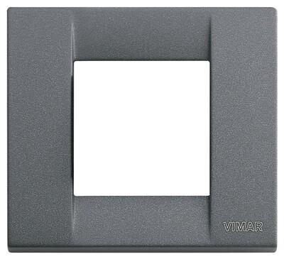 Накладка для 1-2 модулей металл серый шифер