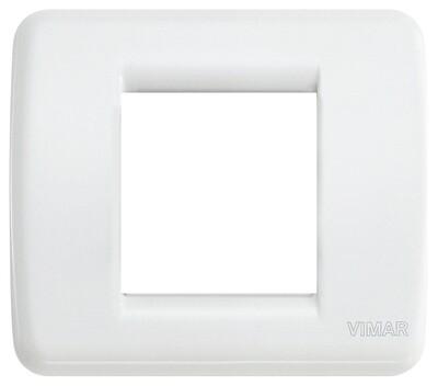 Накладка для 1-2 модулей RONDO металл белая
