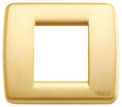 Накладка для 1-2 модулей RONDO металл матовое золото
