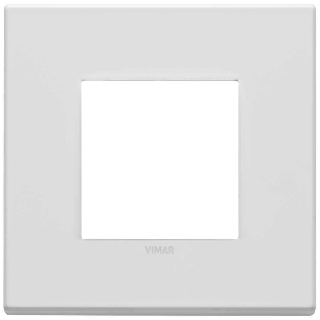 Накладка на 2 модуля, белая матовая