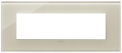 Накладка на 7 модулей, белая конопля