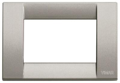 Накладка для 3 модулей металл металлик титановый