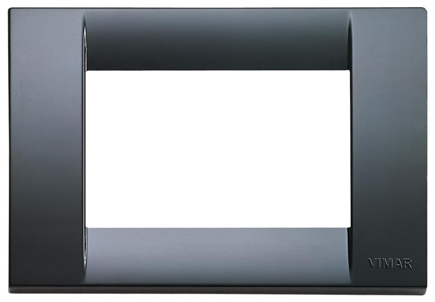 Накладка для 3 модулей пластик графитово-серый