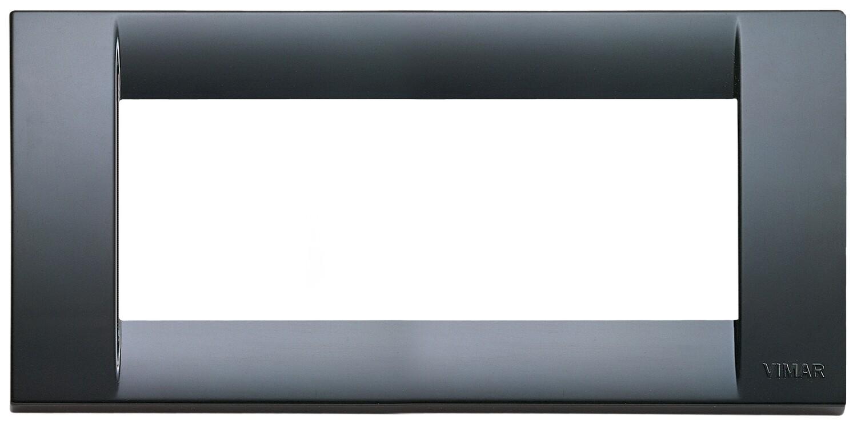 Накладка для 5 модулей пластик графитово-серый