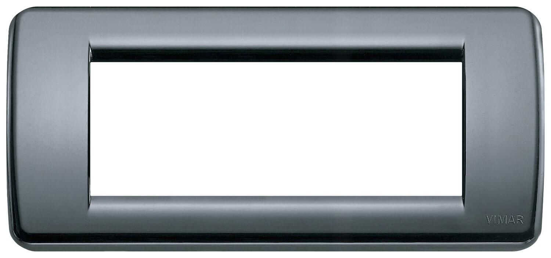 Накладка для 5 модулей RONDO пластик графитовый серый