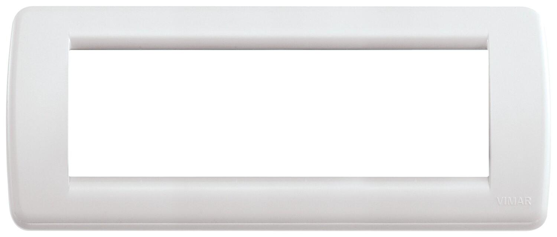 Накладка для 6 модулей RONDO пластик белый IDEA